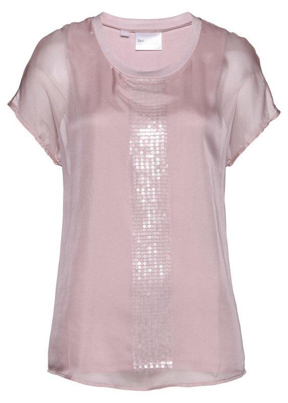 Bluzka tunika 2w1 na imprezę, sylwestra, różowa