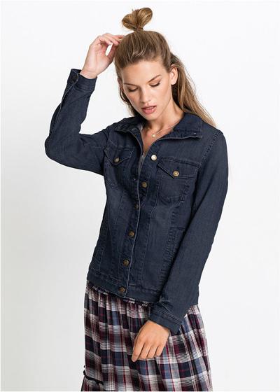 Wygodna kurtka dżinsowa ze stretchem