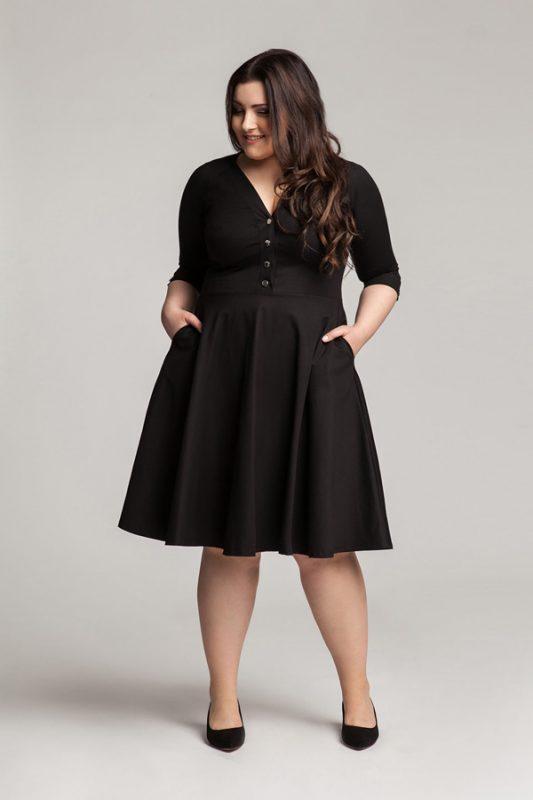 Sukienka na co dzień czarna