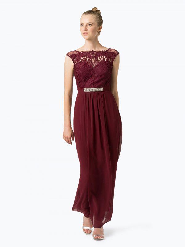 Lipsy długa sukienka wieczorowa bordowa