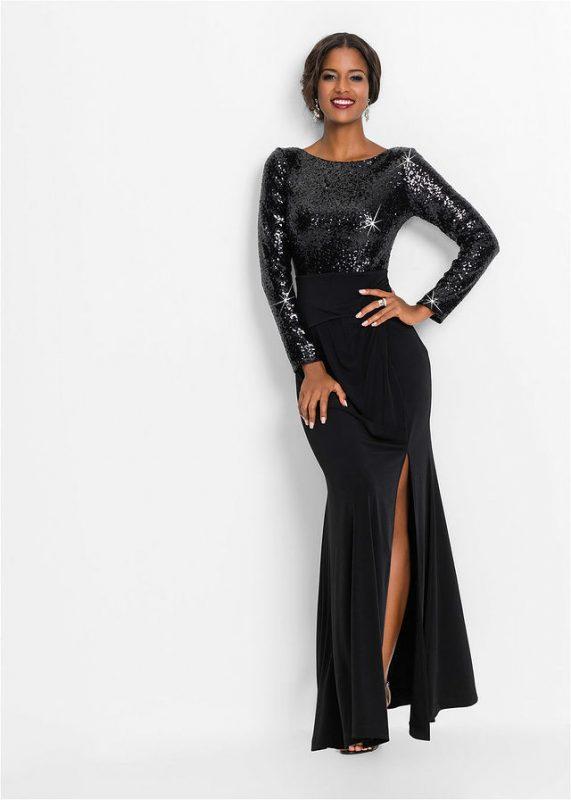 Suknia wieczorowa z długim rękawem