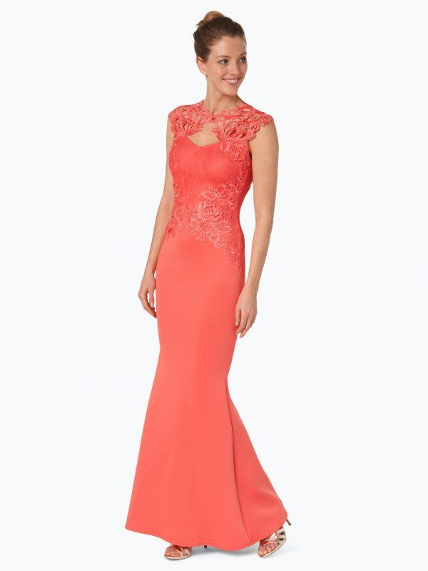 Lipsy długa sukienka wieczorowa koralowa