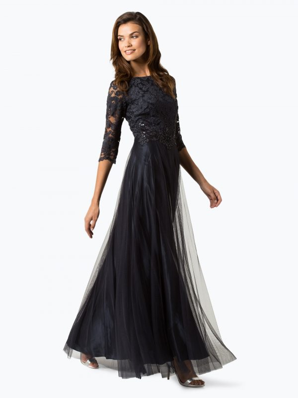 Vera Mont Collection długa suknia wieczorowa granatowa