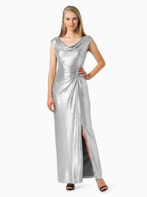 Srebrna suknia wieczorowa na sylwestra