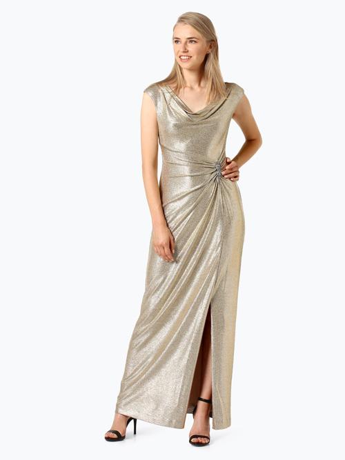 złota suknia wieczorowa na sylwestra