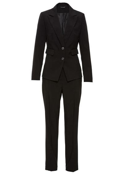 Elegancki komplet damski spodnie i żakiet czarny