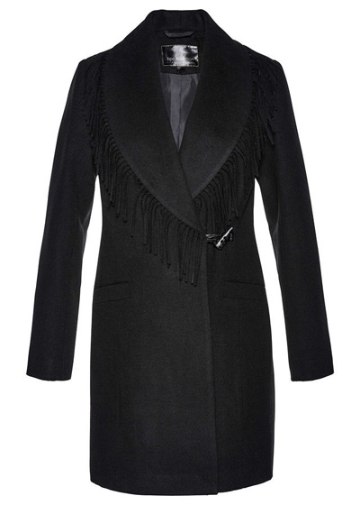 Płaszcz zimowy damski czarny