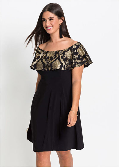 Połyskująca sukienka z brokatowym wzorem