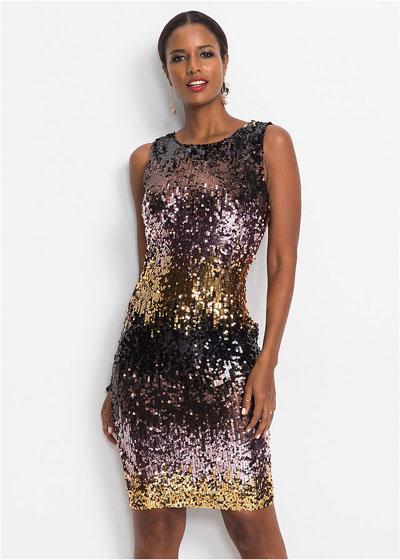 Cekinowa sukienka na imprezę i sylwestra odcienie różowego