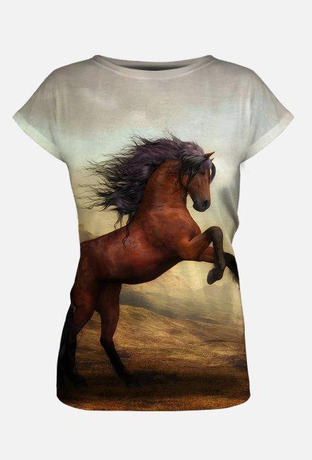 Koszulka damska z nadrukiem Full Print Konie