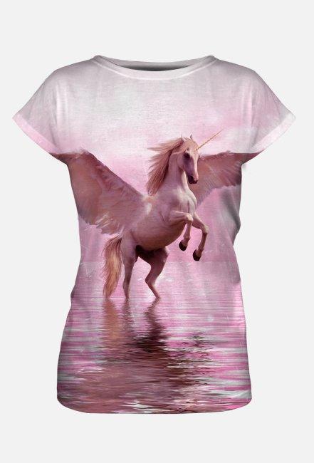 Koszulka damska z nadrukiem Full Print Jednorożec