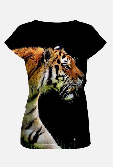 Koszulka damska z nadrukiem Full Print Tygrys