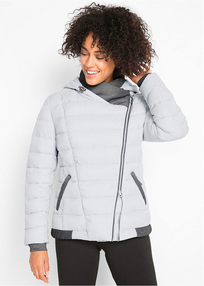 Ciepła zimowa kurtka pikowana outdoorowa biała