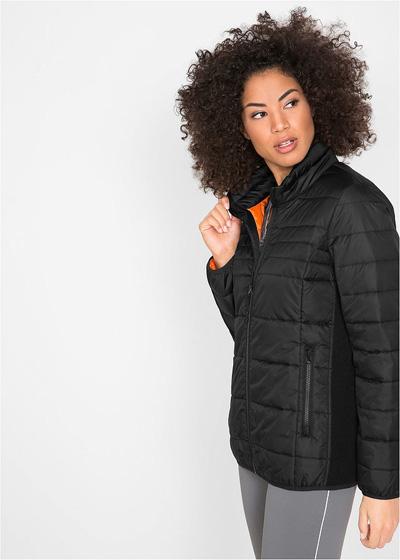Jesienna kurtka pikowana damska czarna