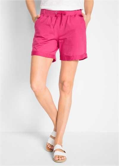 Szorty damskie dresowe różowe