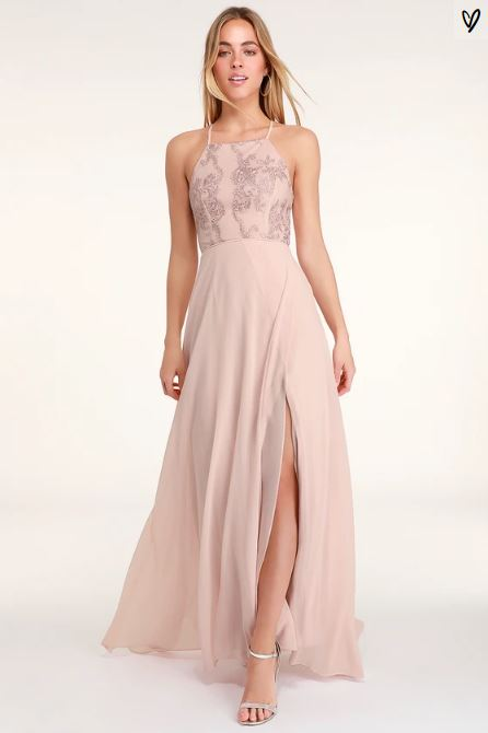 LOVE ALWAYS REMAINS BLUSH PINK LACE MAXI DRESS