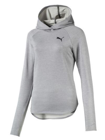 Puma damska bluza z kapturem do biegania szara