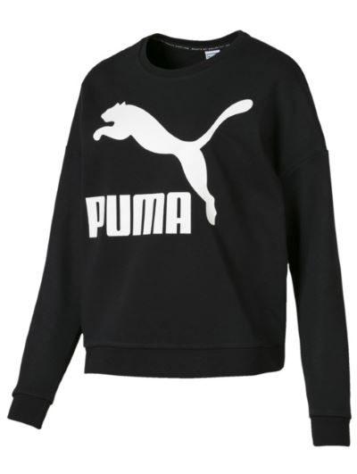 Puma klasyczna bluza z logo na piersi czarna