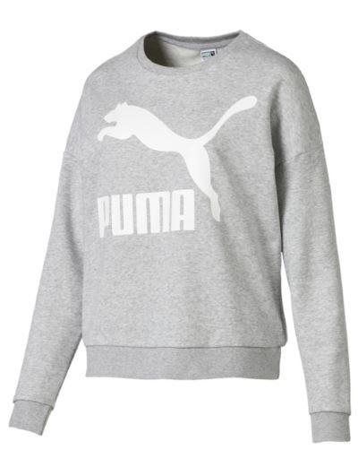 Puma klasyczna bluza z logo na piersi szara
