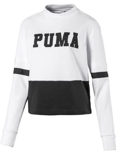 Puma klasyczna bluza z logo na piersi biała